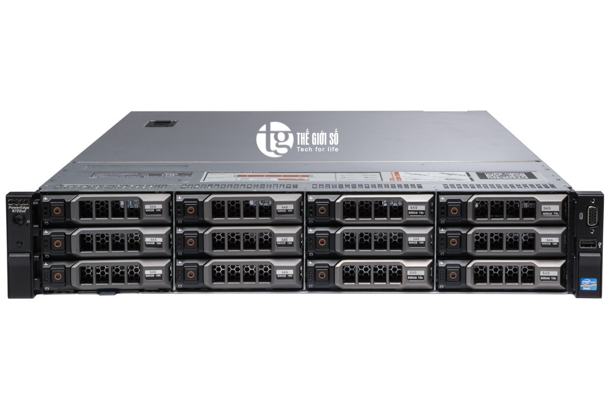 SERVER DELL POWEREDGE R720XD - E5-2630V2, 6-Core E5-2630v2 2.6GHz, 15M Cache, 7.20GT/s QPI