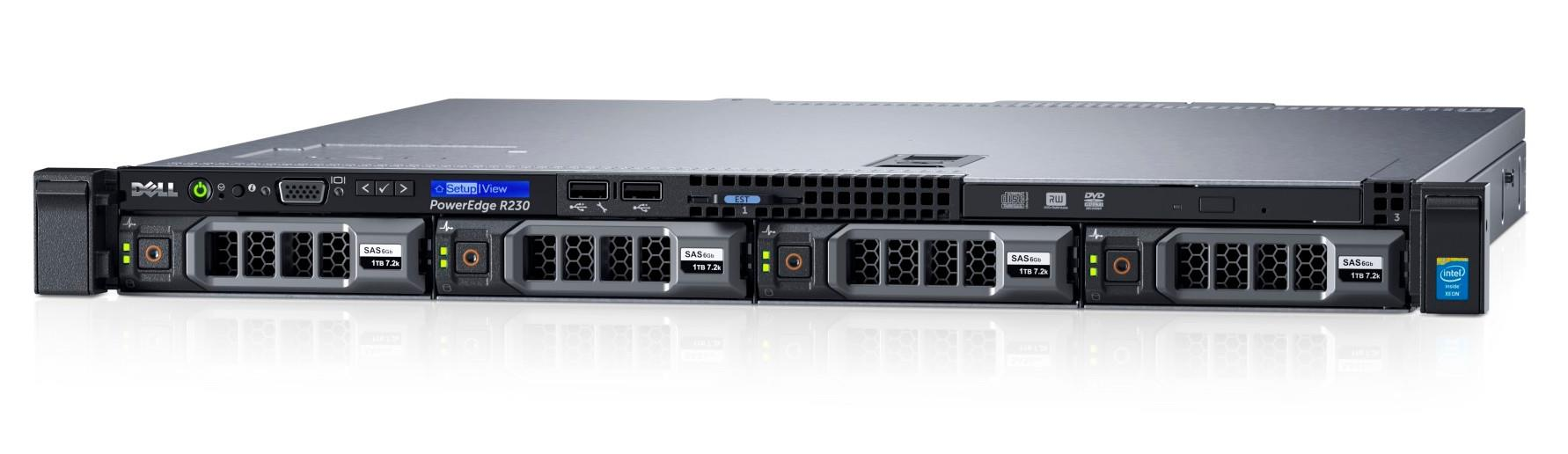 MÁY CHỦ DELL POWEREDGE R220 E3-1220v3 (3.1GHz/4-core/8MB)