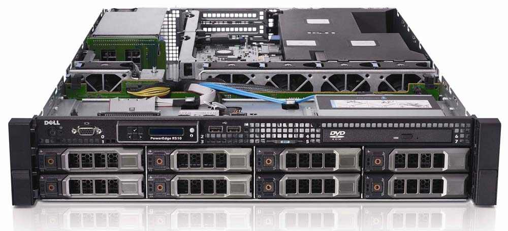 SERVER DELL POWEREDGE R510 X5650 (2.66Ghz 12M Cache - 12 Core / 24 Threads)