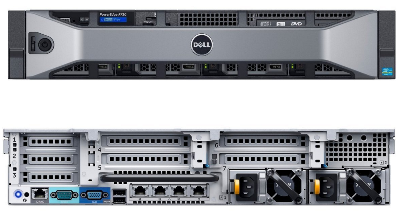 MÁY CHỦ DELL POWEREDGE R730 HDD 3.5 E5-2650 v4