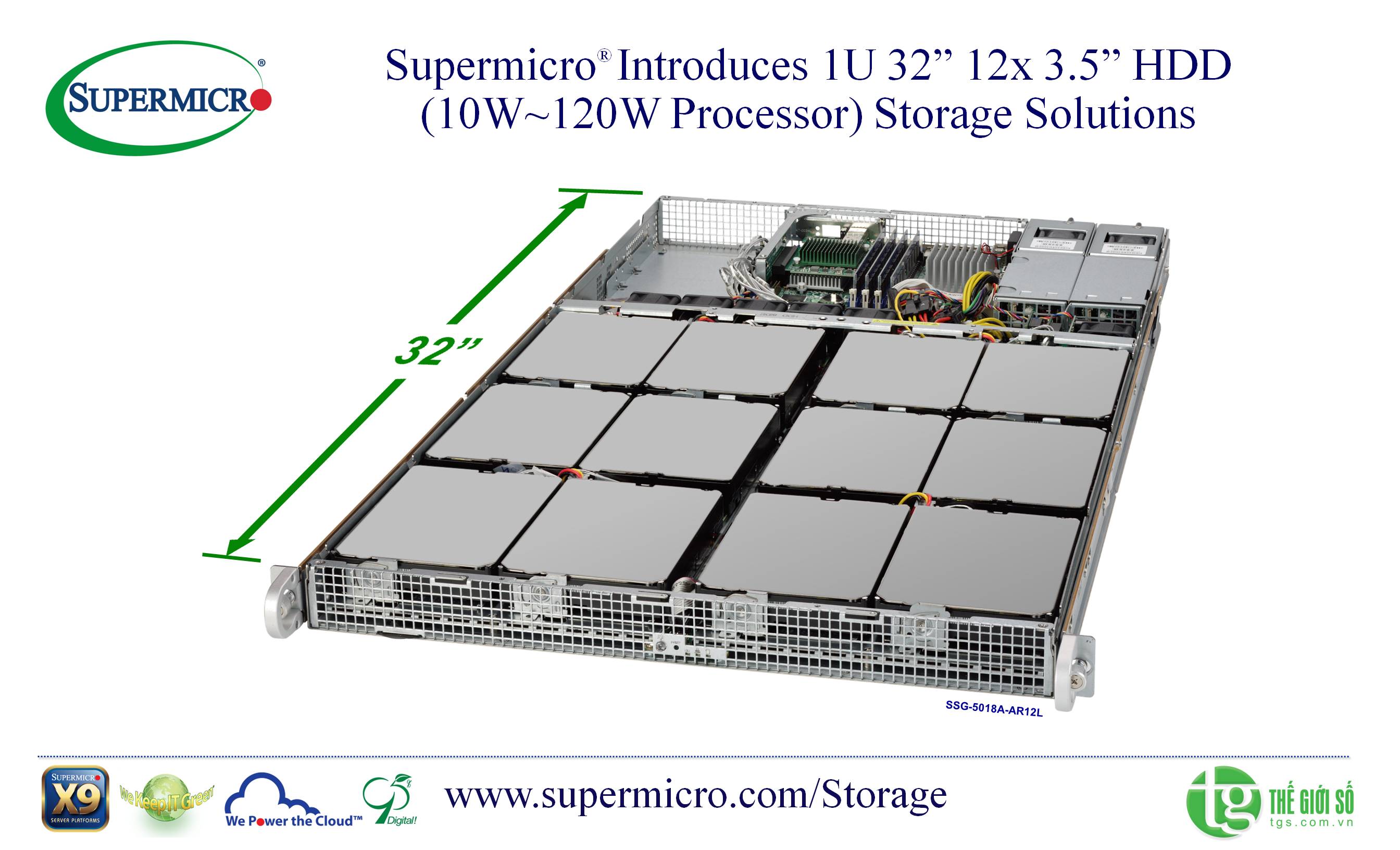 Supermicro SuperStorage Server 5018D4-AR12L