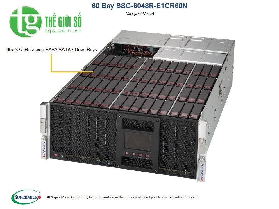 Supermicro SuperStorage Server 6048R-E1CR60N